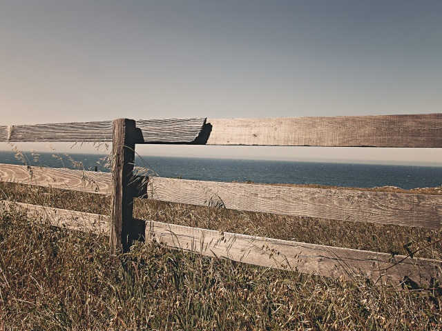 sea-ocean-meadow-fence